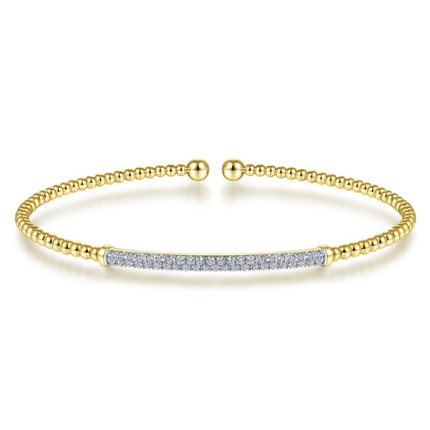 Diamond & Yellow Gold Fashion Bracelet