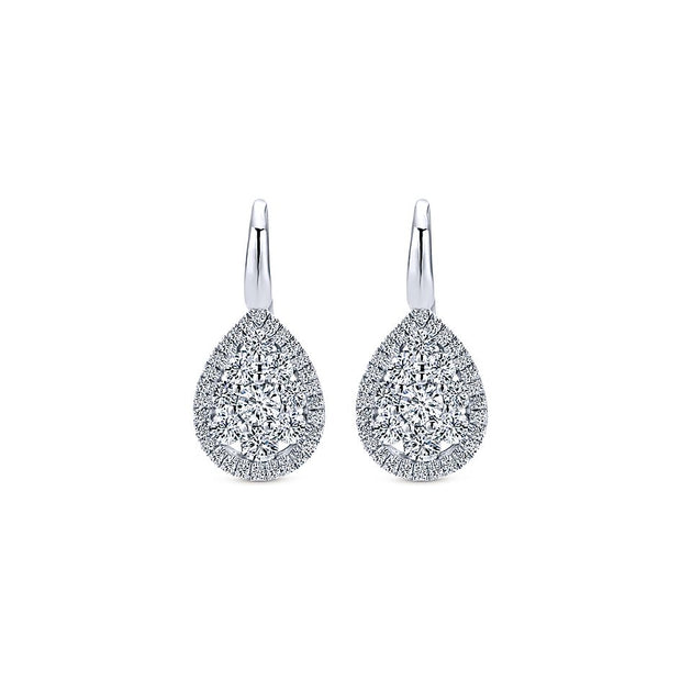 Diamond White Gold Fashion Earrings