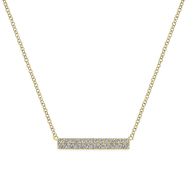 Diamond Gold Bar Necklace