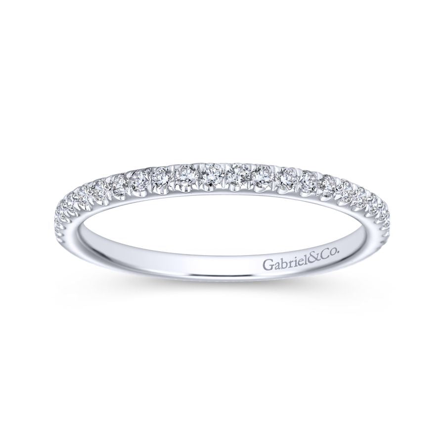 bands diamond pave micro wedding gold eternity thin stacking ring band white rings