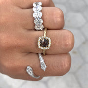 Smoky Quartz & Diamond Fashion Ring