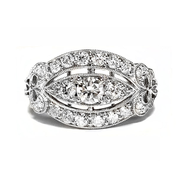 Diamond Antique Style Fashion Ring