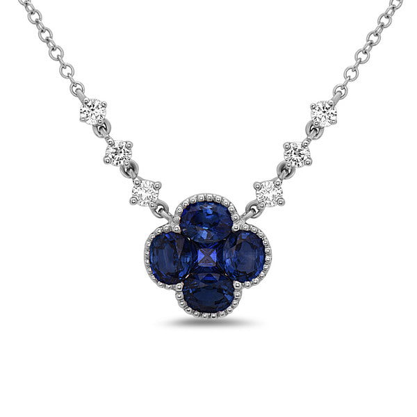 Sapphire & Diamond Fashion Necklace