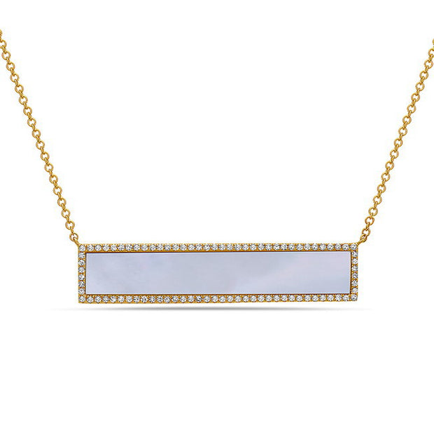 Mother of Pearl & Diamond Necklace