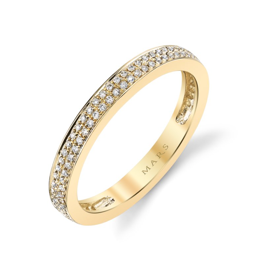 Diamond Yellow Gold Band