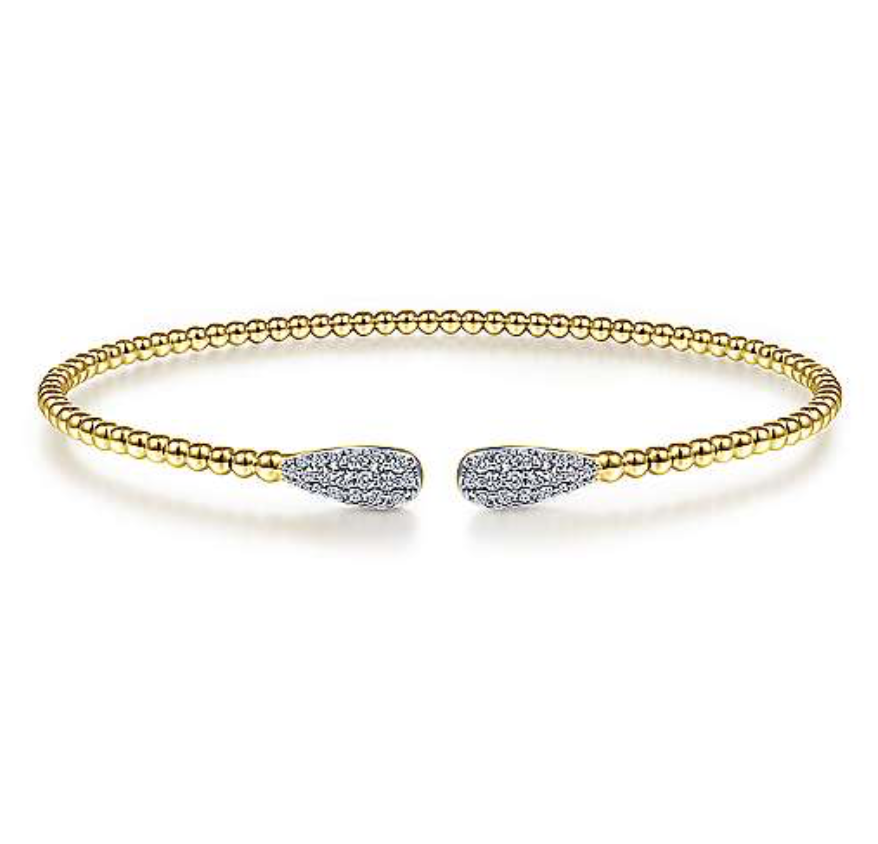 Diamond & Yellow Gold Bangle Bracelet