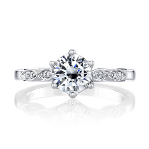 Diamond Modern Engagement Ring