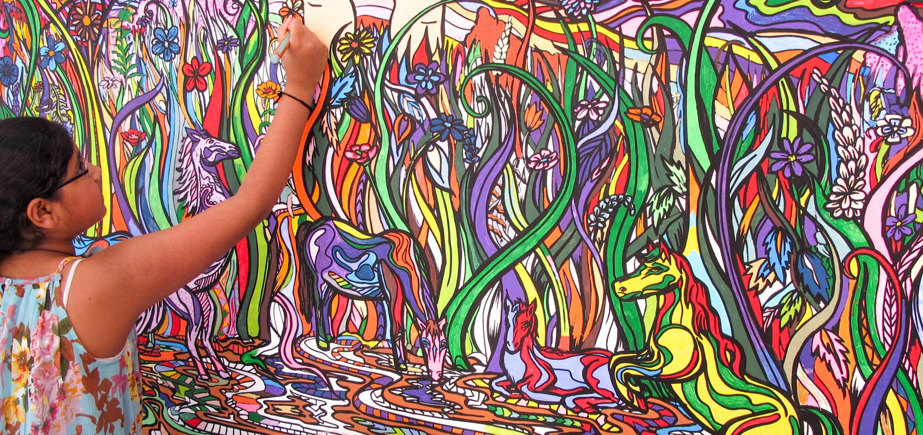 fancy features giant colouring wall mural