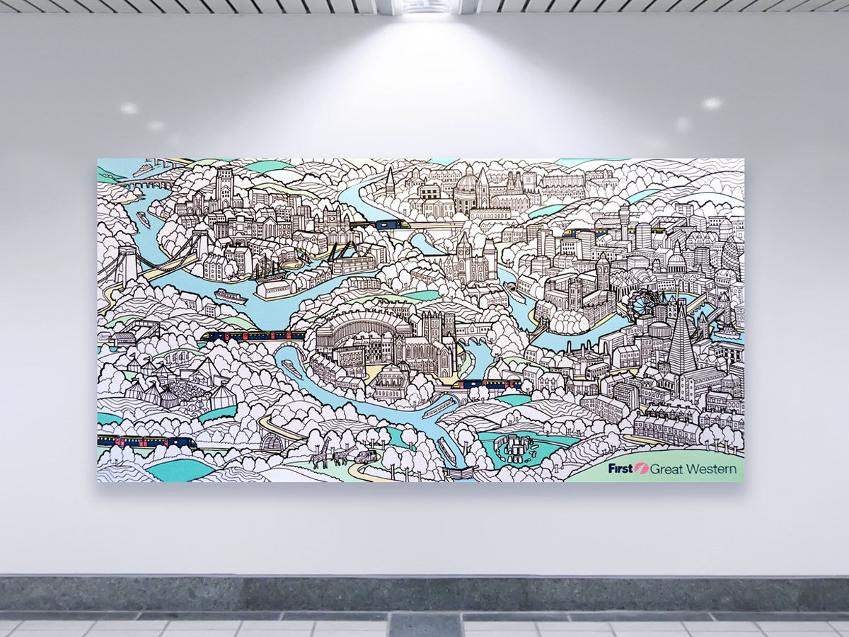 giant colouring canvas art
