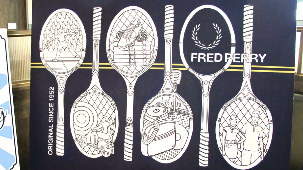 fred perry colouring art