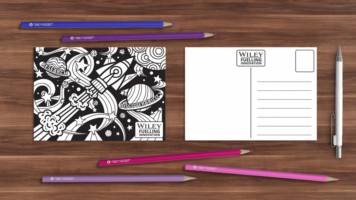 custom colouring postcards