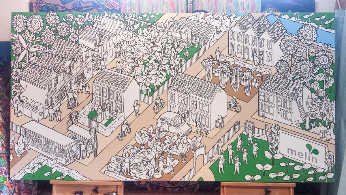 melin community colouring canvas commission