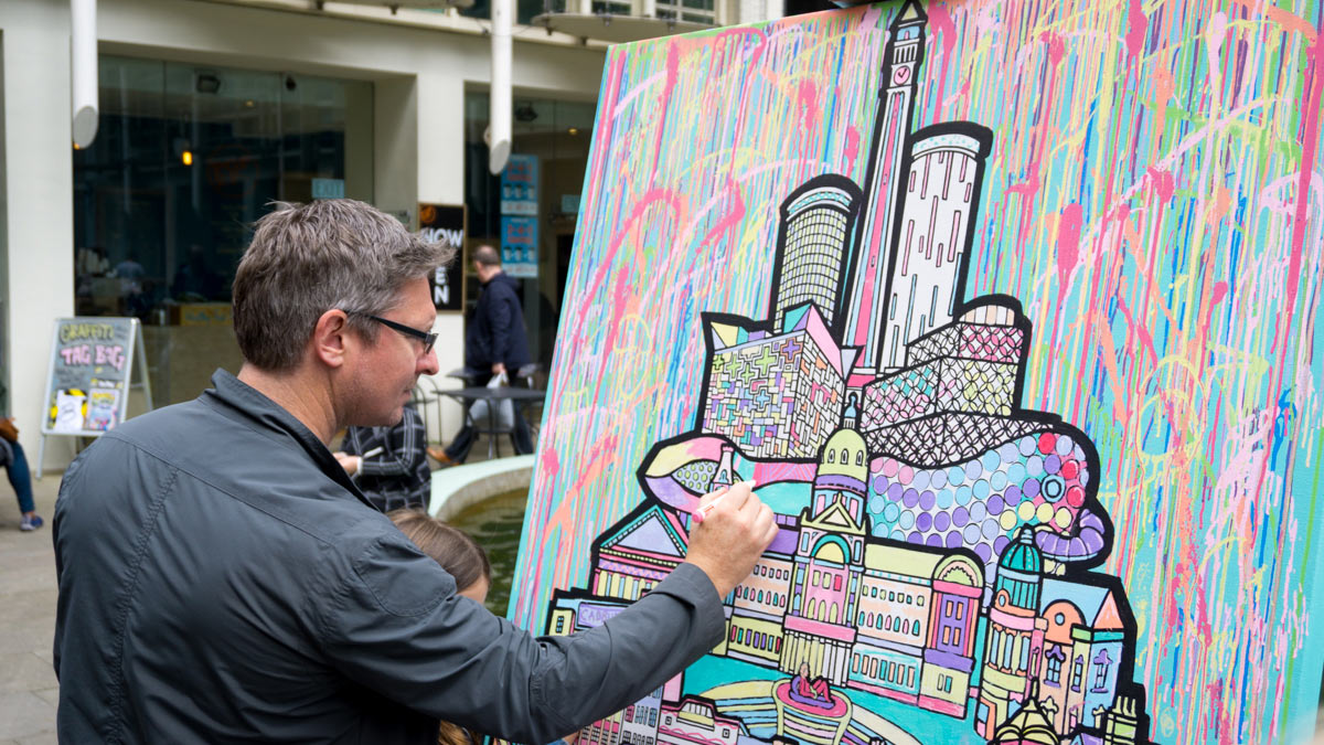 colouring mural art