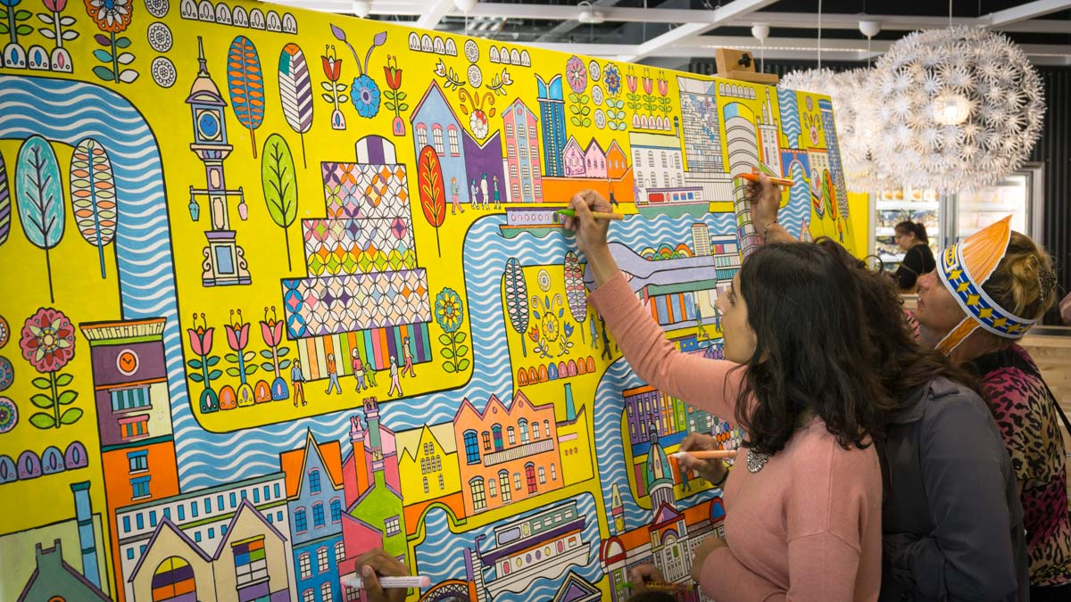 ikea colouring canvas art