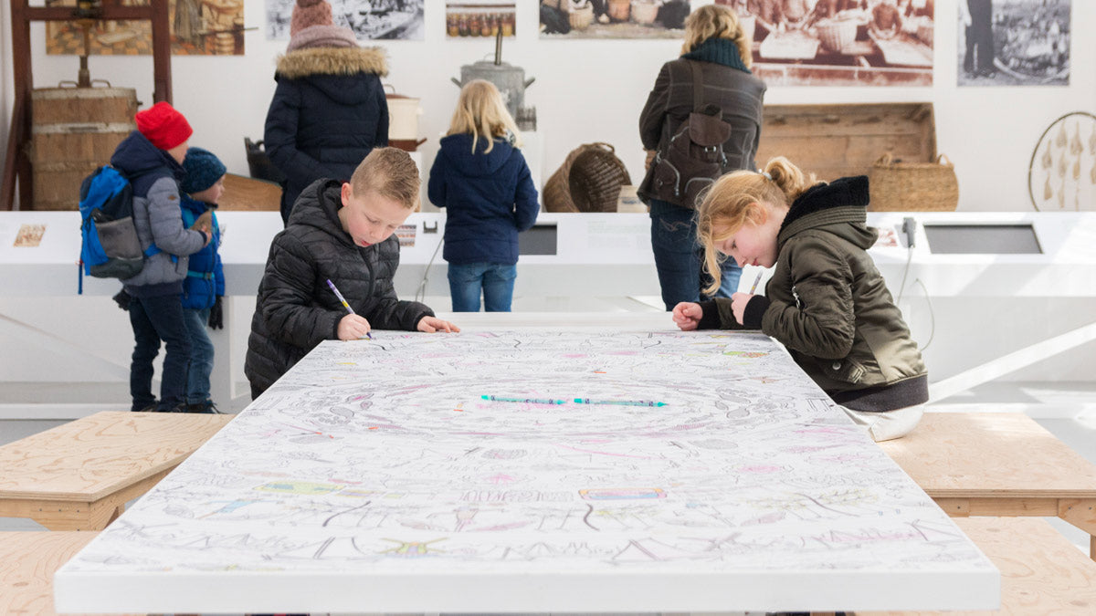 giant colouring picture at zuiderzee museum