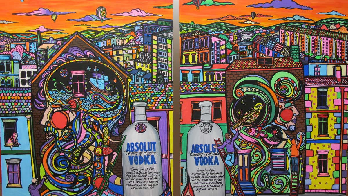 Absolut colouring art