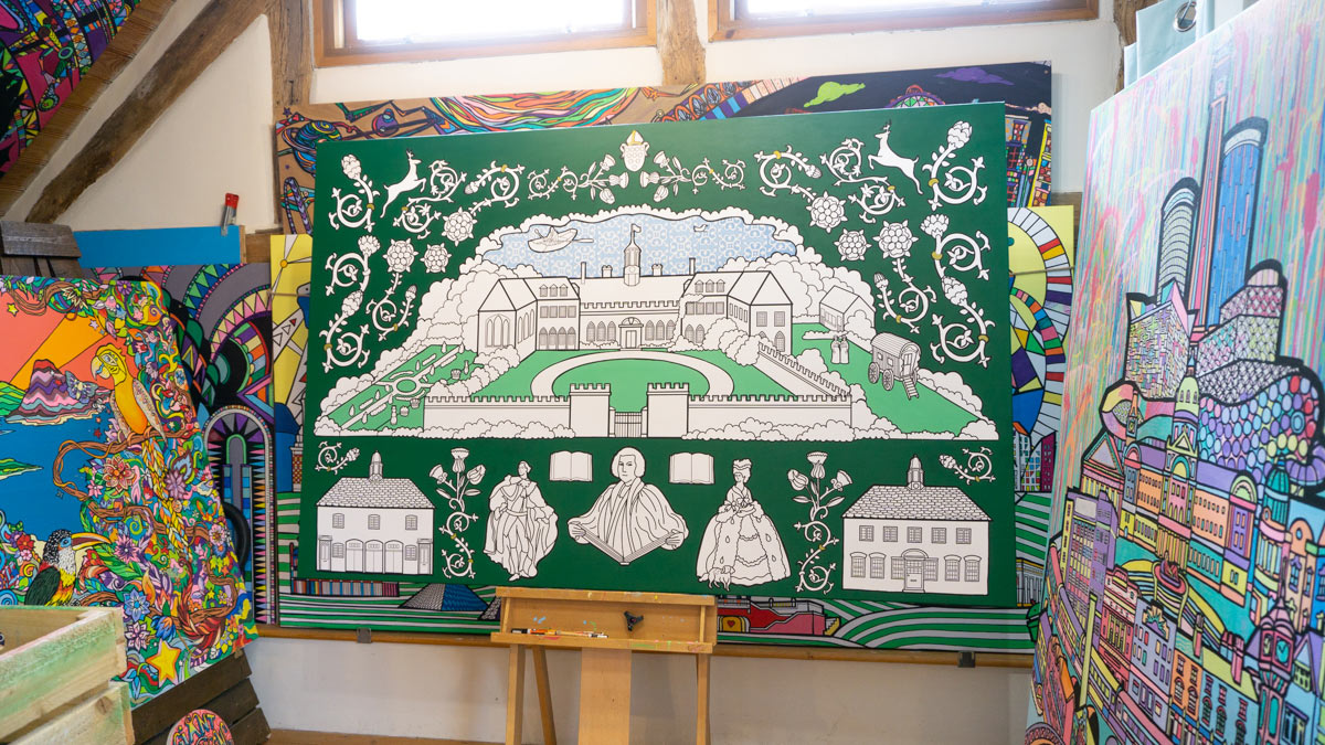hartlebury castle colouring art