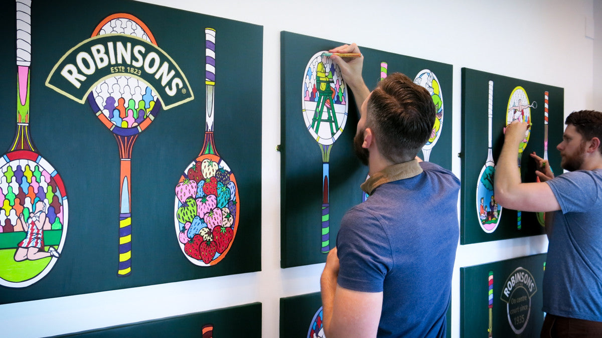 Wimbledon colouring art