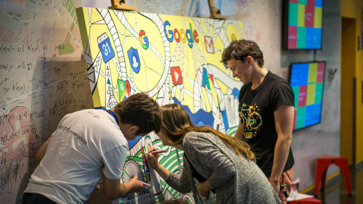 google coloring wall art london