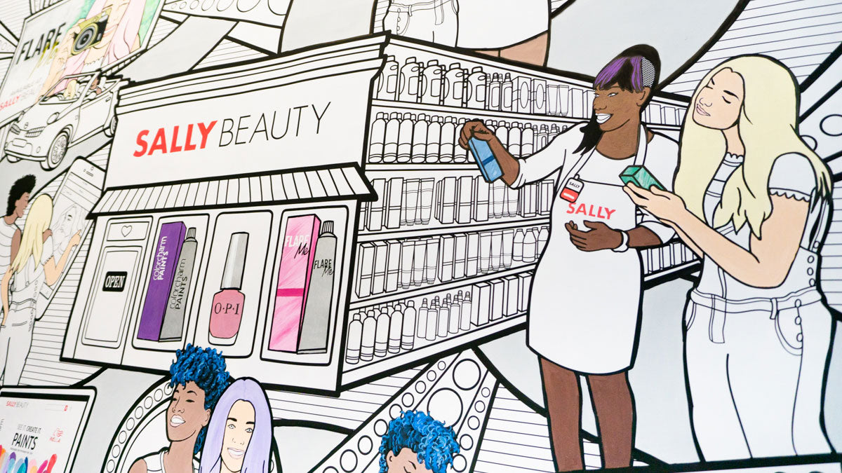 sally beauty coloring canvas mural