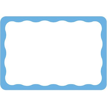 name tag white with blue border 100 ct partyandtoy com