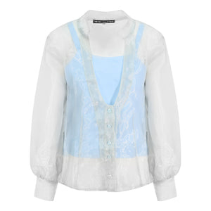 Organza Top with Inner Vest