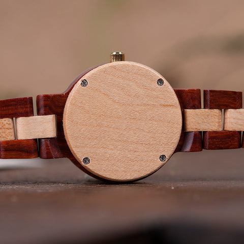 Women's Luxury Wood Bracelet Watch