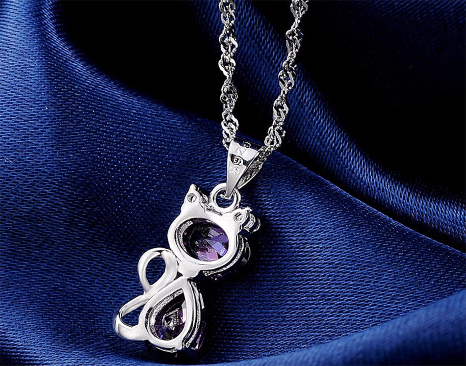 Cute Cat Pendant Necklace - everydayjoejewels