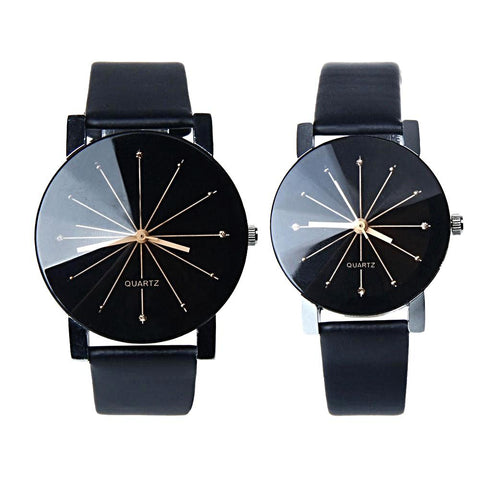 His & Her Luxury Fashion Quartz Lovers Watches - everydayjoejewels