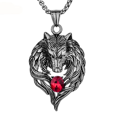 Dark Wolf Stainless Steel Necklace - everydayjoejewels