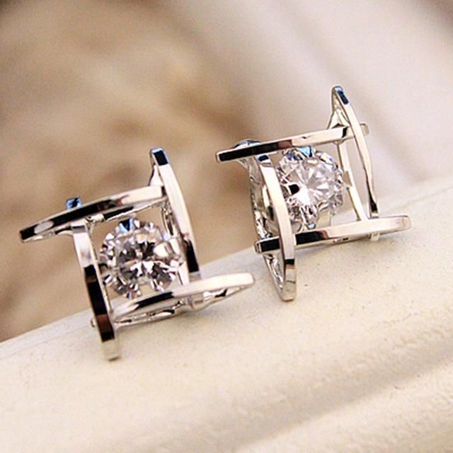 Crystal Square Statement Earrings
