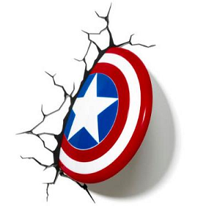 3D Captain America Shield Light