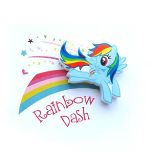 3D Mini Rainbow Dash Light