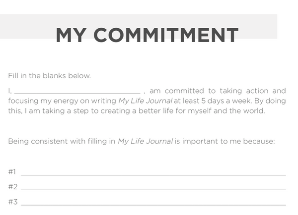 my commitment journal