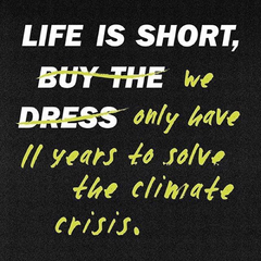Life is short, we have only 11 years to solve the climate crisis. support ethical clothing, sustainable fashion, fair trade jewellery