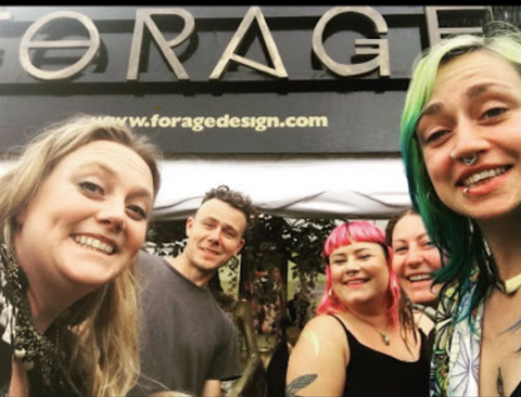 Forage at glastonbury festival, set up with our festival family selling our ethically sourced jewellery and boho clothing