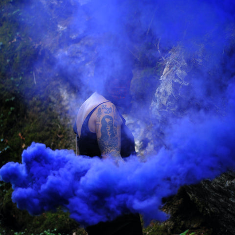 smoke bomb, purple smoke, colour therapy, chakras explained, chakra meaning