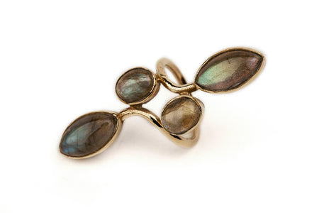 Brass Labradorite Ring - Southern Cross