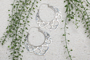 Silver Mermaid Hoops