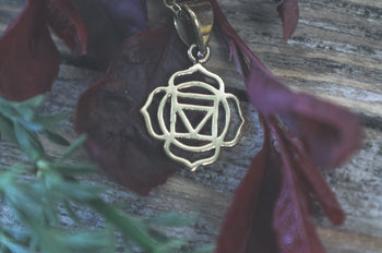 Root Chakra necklace in Pure Brass