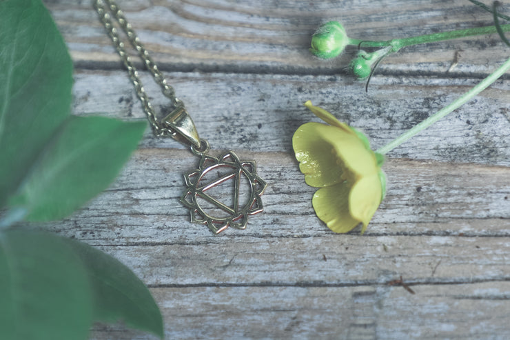 Solar Plexus Chakra Charm, chakra pendant, small chakra symbol, solar plexus necklace, confidence necklace, jewellery for self esteem