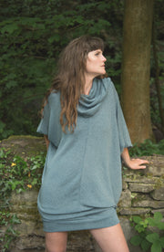 Dolman Jumper Dress with Scarf