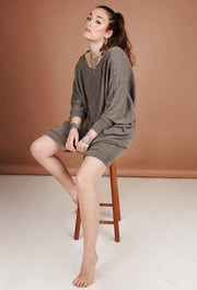 Oversized Drop Shoulder Jumper Dress