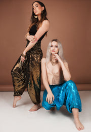 Sequin Harem Pants