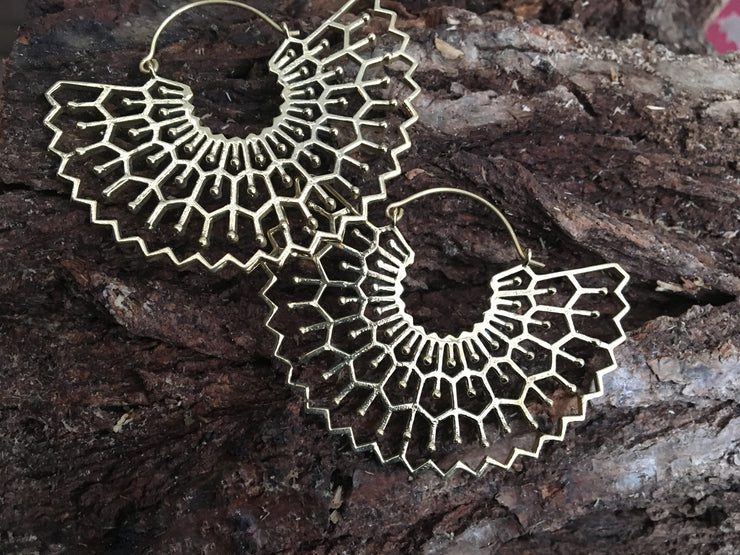 Frith Brass Hoop Earrings
