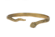 Brass Serpent Wrap Bracelet