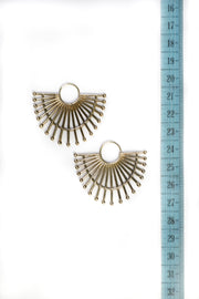 Brass Radial Tribal Hoops