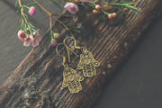 Brass Hasma Drop Earrings