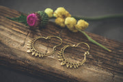 Brass Boho Hoop Earrings