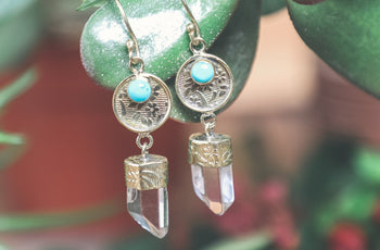 Quartz Crystal Tnemei Earrings